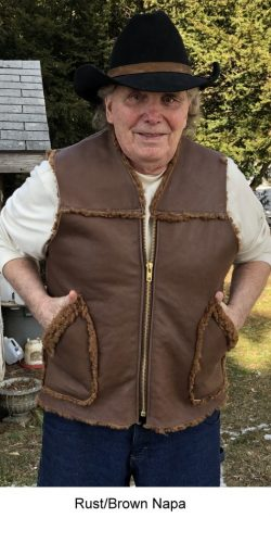 Kidney Flap Sheepskin Shearling Vest